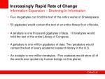 increasingly rapid rate of change information expansion drowning in i nformation
