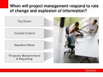 when will project management respond to rate of change and explosion of information