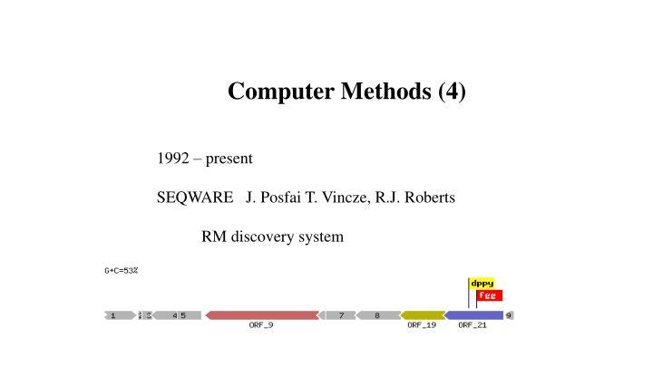 Computer Methods