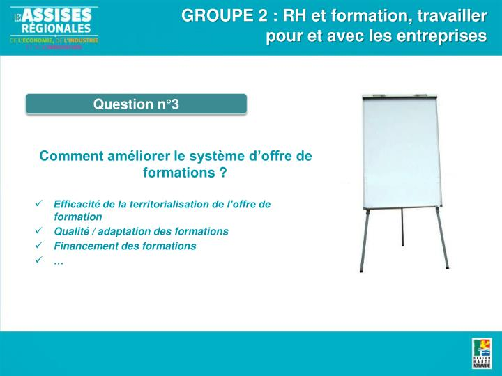 GROUPE 2 : RH et formation, travailler pour et avec les entreprises