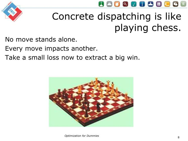 Concrete dispatching is like playing chess.