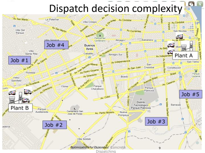 Dispatch decision complexity