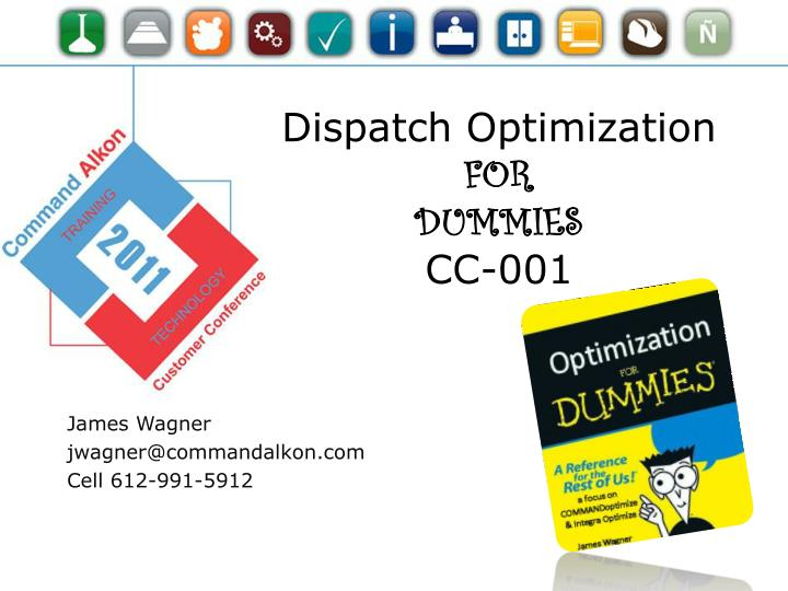 Dispatch optimization for dummies cc 001