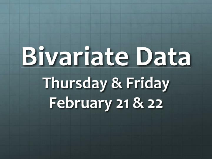 Bivariate Data
