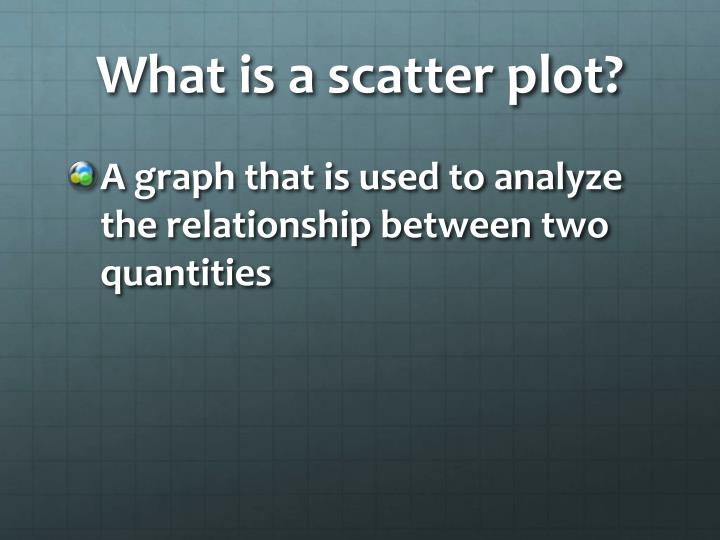 What is a scatter plot