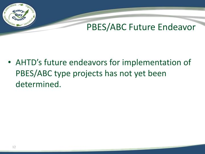 PBES/ABC Future Endeavor