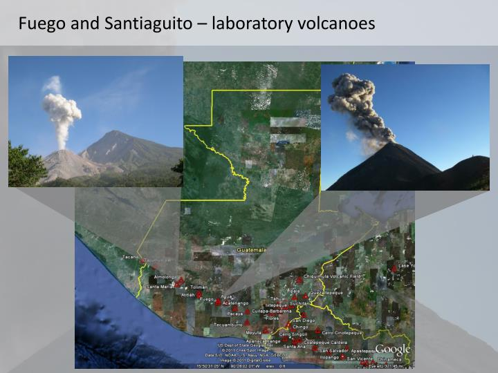 Fuego and santiaguito laboratory volcanoes