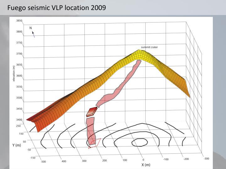 Fuego seismic VLP location 2009