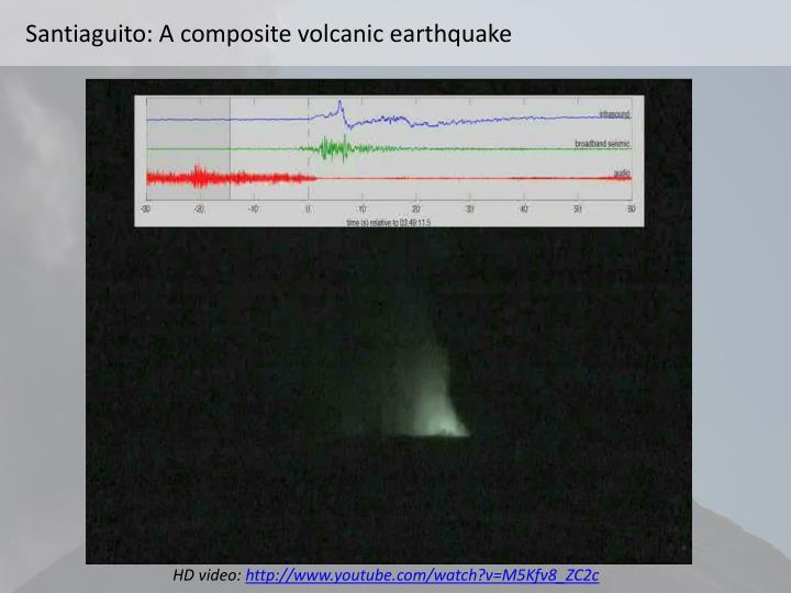 Santiaguito: A composite volcanic earthquake