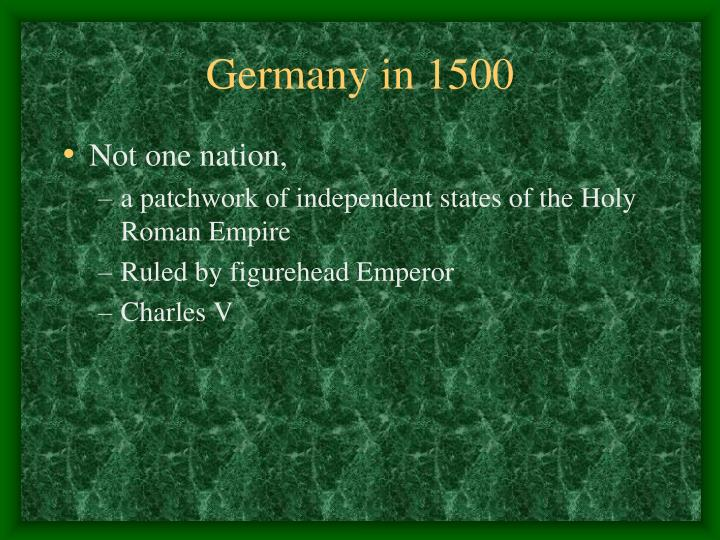 Germany in 1500