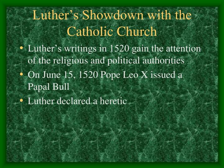 Luther's Showdown with the Catholic Church