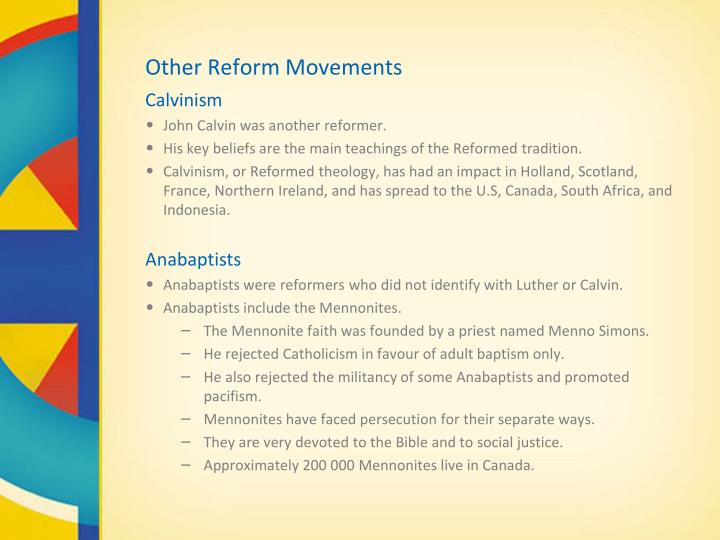 Other Reform Movements