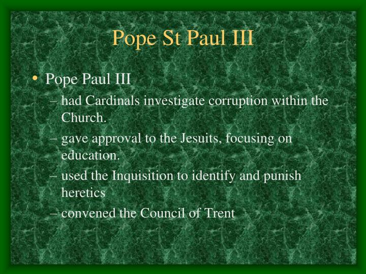 Pope St Paul III