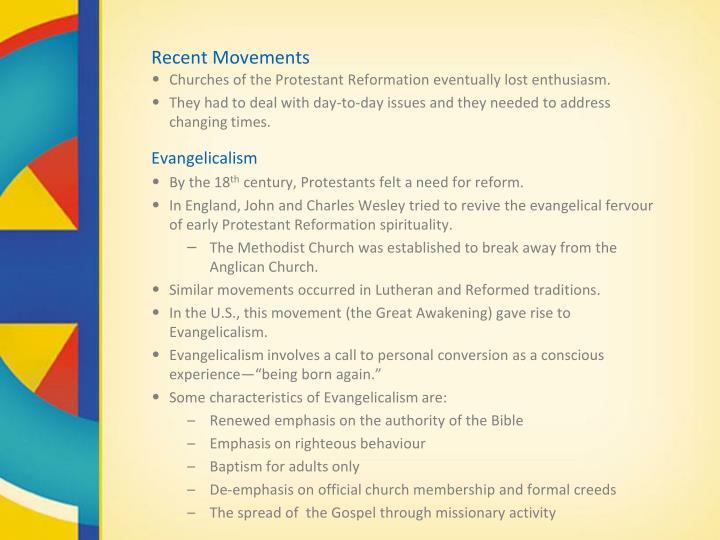 Recent Movements