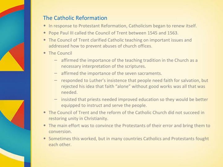 The Catholic Reformation