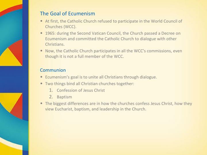 The Goal of Ecumenism
