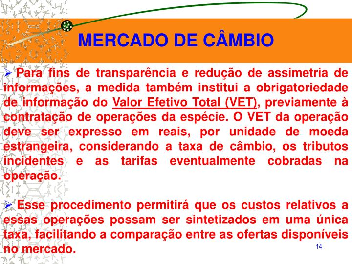 MERCADO DE CÂMBIO