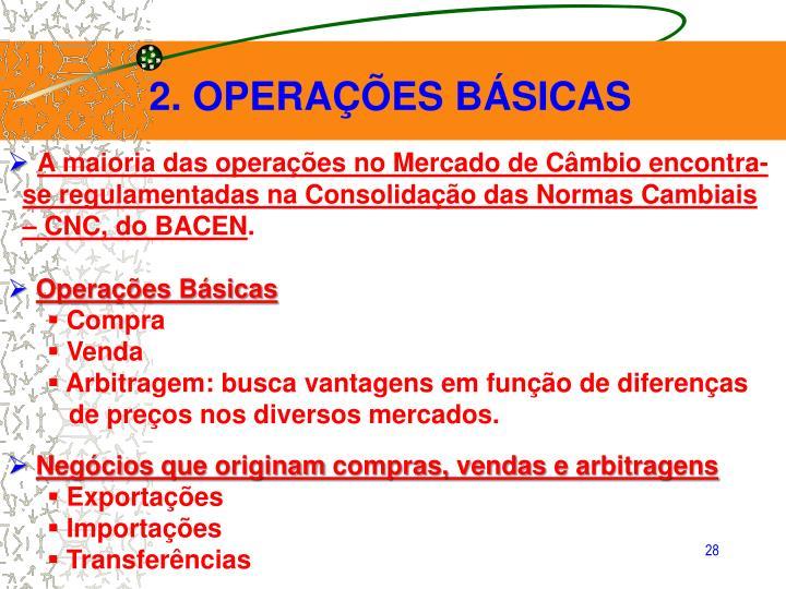 2. OPERAÇÕES BÁSICAS
