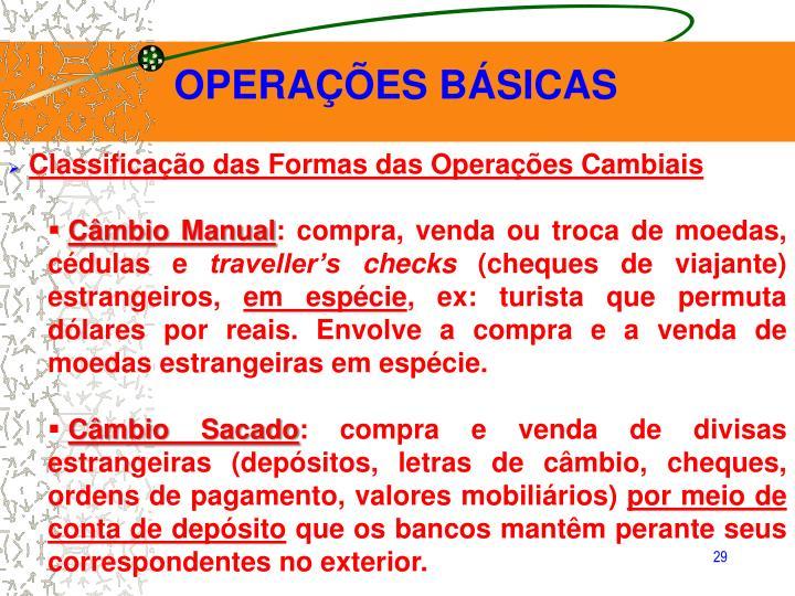 OPERAÇÕES BÁSICAS