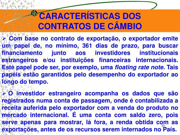 CARACTERÍSTICAS DOS