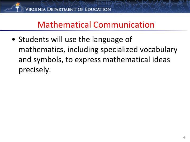 Mathematical Communication