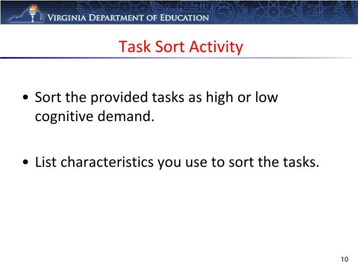 Task Sort Activity