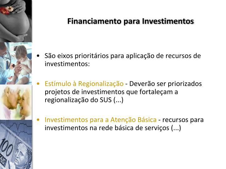 Financiamento para Investimentos