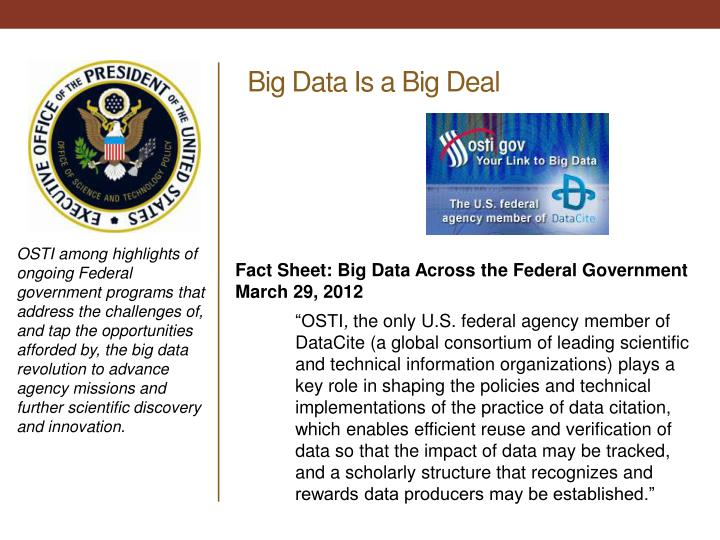 Big Data Is a Big Deal
