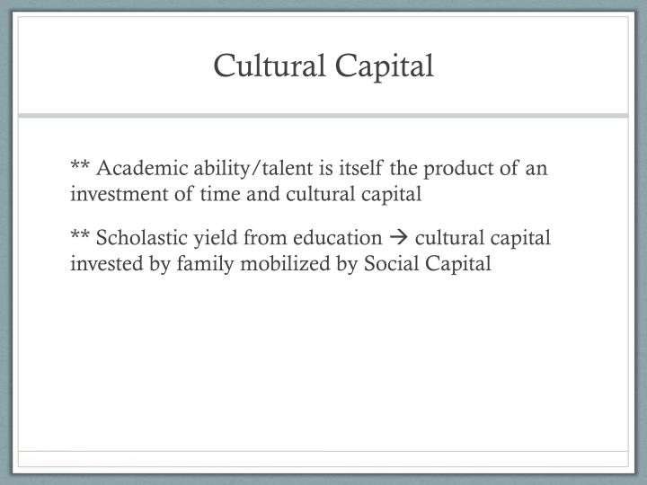 Cultural Capital