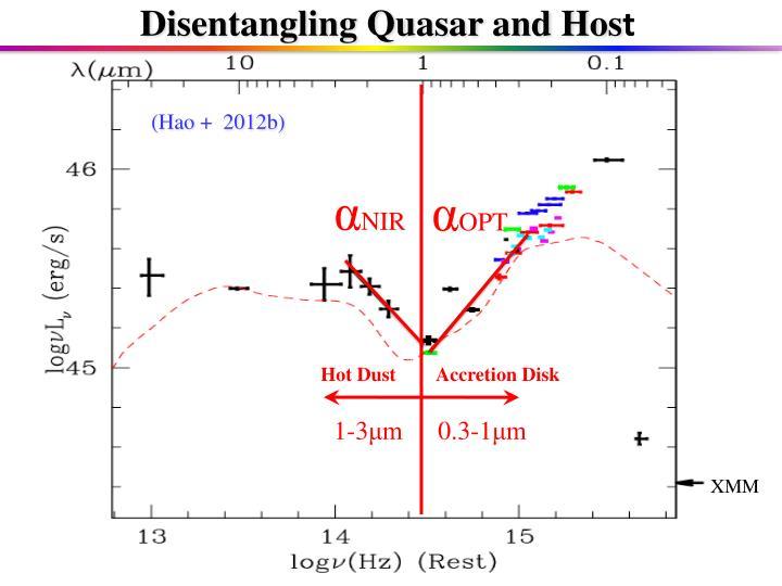 Disentangling Quasar and Hos