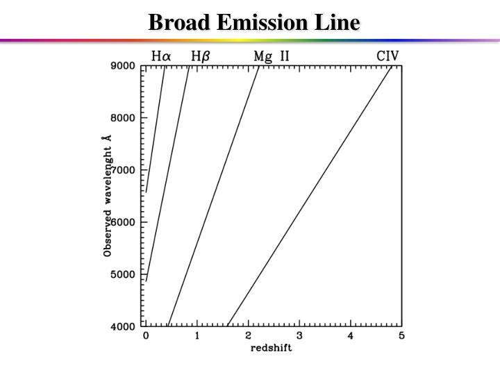 Broad Emission Line
