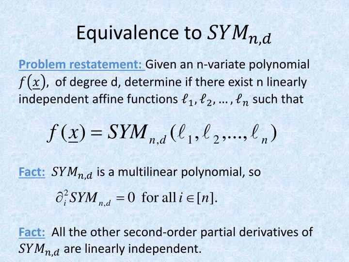 Equivalence to