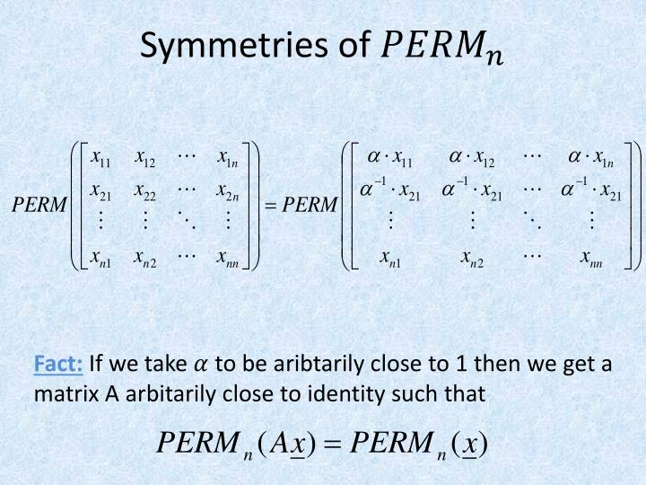 Symmetries of