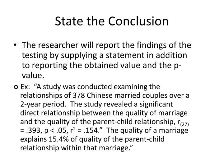 State the Conclusion