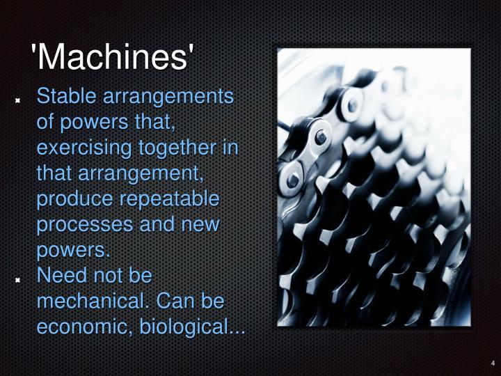 'Machines'