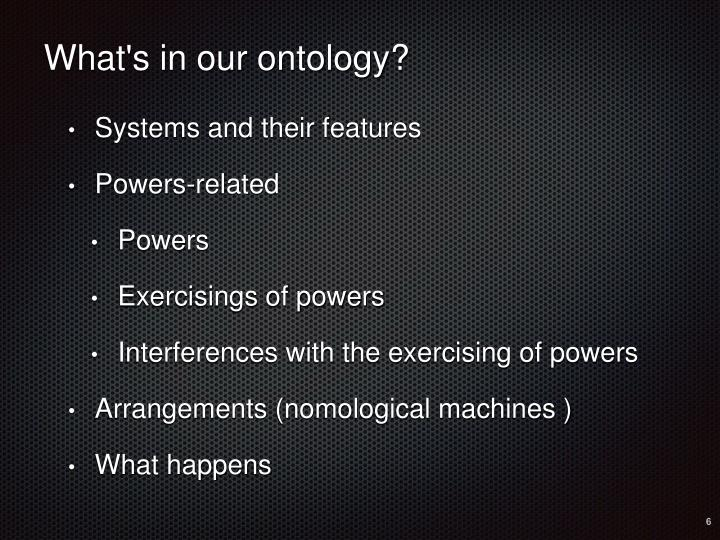 What's in our ontology?