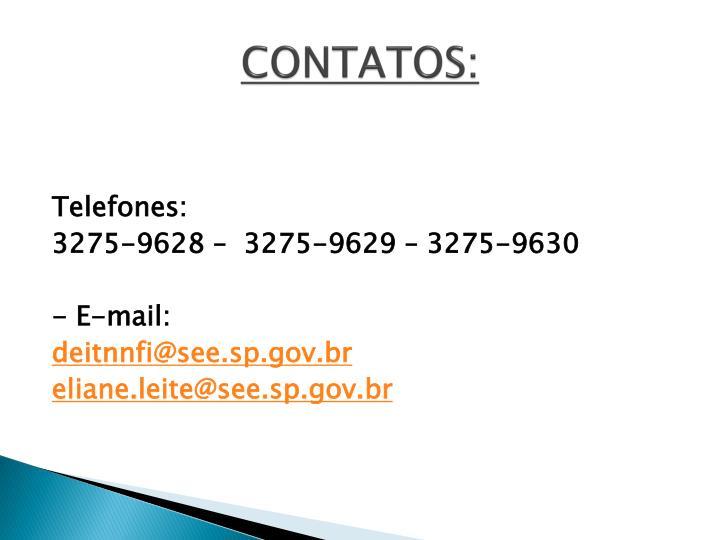 CONTATOS: