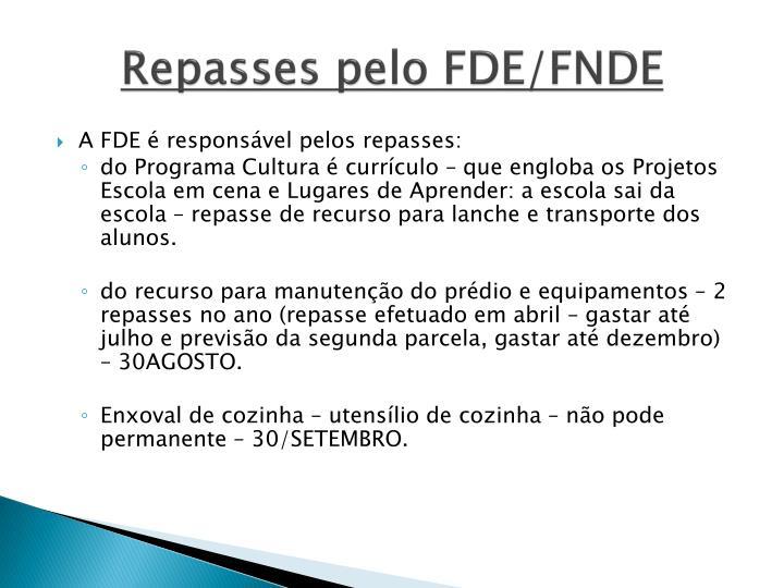 Repasses pelo FDE/FNDE