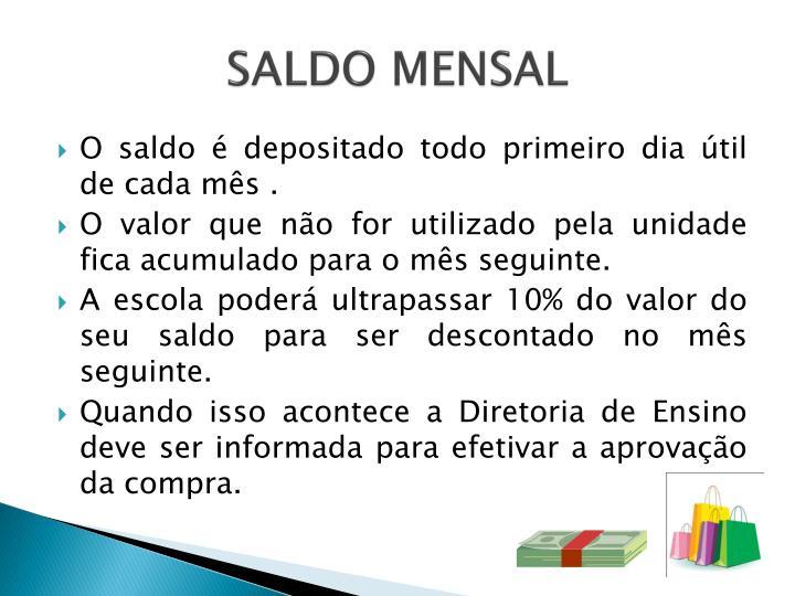 SALDO MENSAL