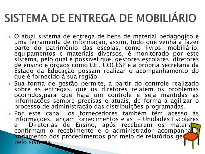 SISTEMA DE ENTREGA DE MOBILIÁRIO