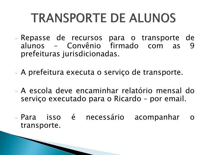 TRANSPORTE DE ALUNOS
