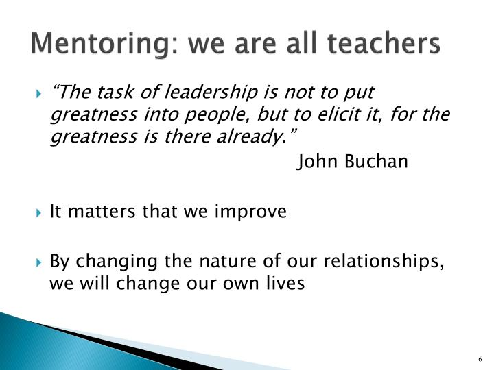 Mentoring: we are