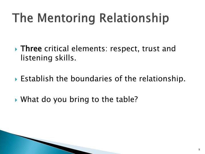 The Mentoring Relationship