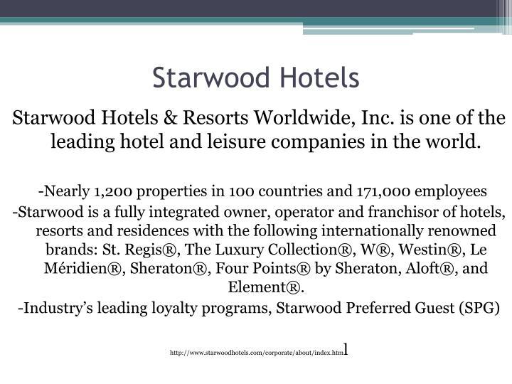 Starwood Hotels