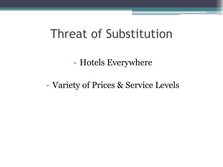 Threat of Substitution