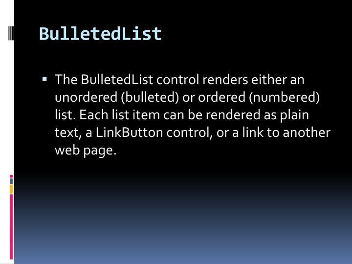 BulletedList
