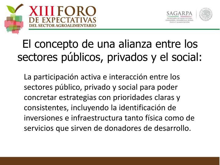 El concepto de una alianza entre los sectores públicos, privados y el social: