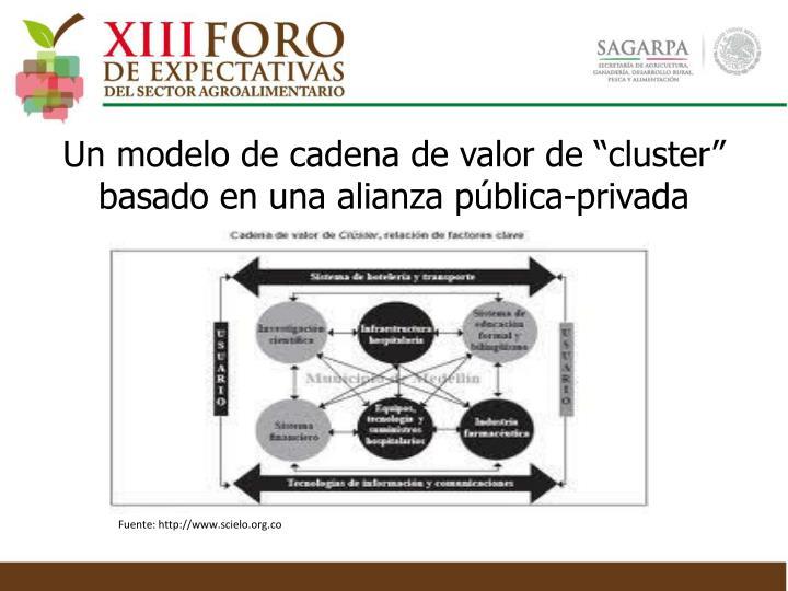 """Un modelo de cadena de valor de """"cluster"""" basado en una alianza pública-privada"""