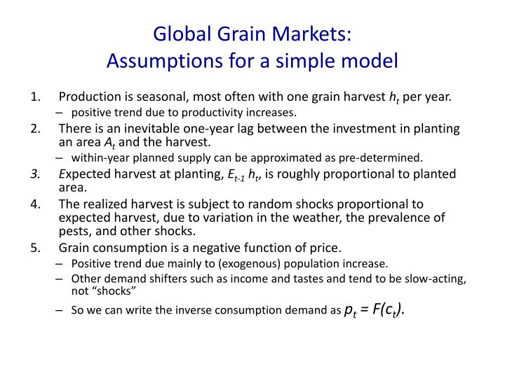 Global Grain Markets: