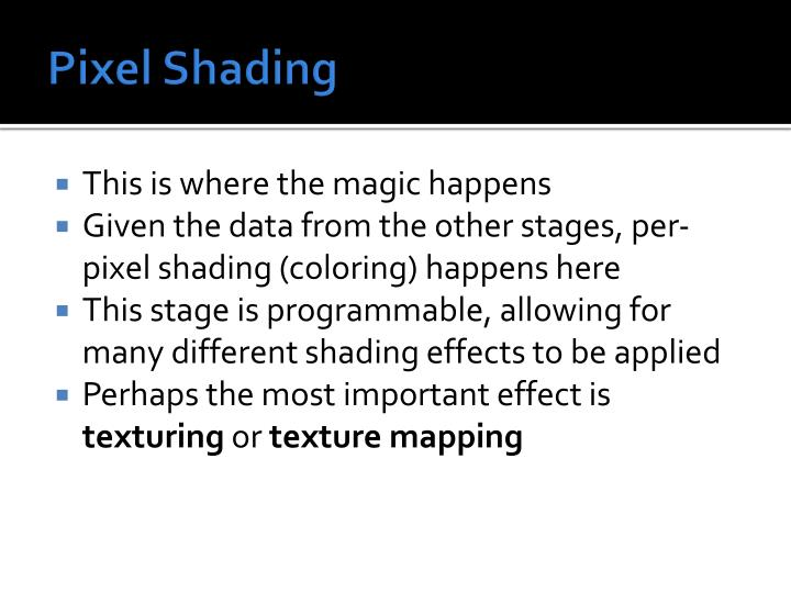 Pixel Shading